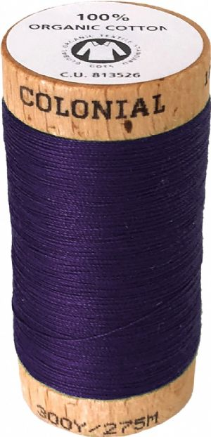 Organic Cotton Thread 300yd Grape