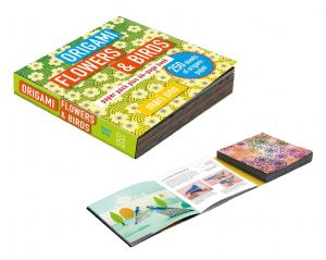 Origami Paper Pack & Book flowers and birds