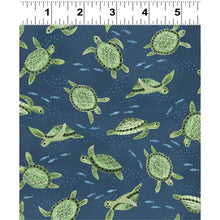 Load image into Gallery viewer, Sea Turtles from Clothworks dark denim