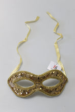 Lade das Bild in den Galerie-Viewer, Domino-Maske Paillette gold