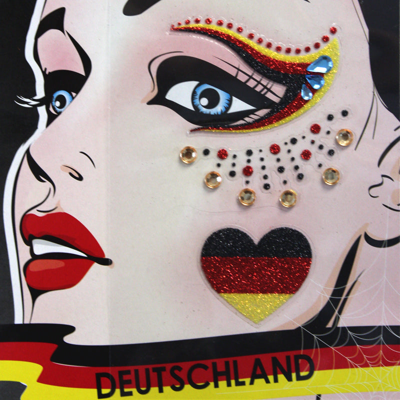 Deutschland Fan Face Sticker 2