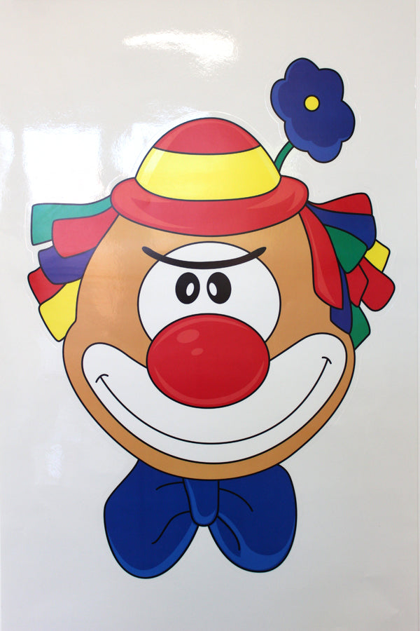 Maxi Fensterbild Clown Woody