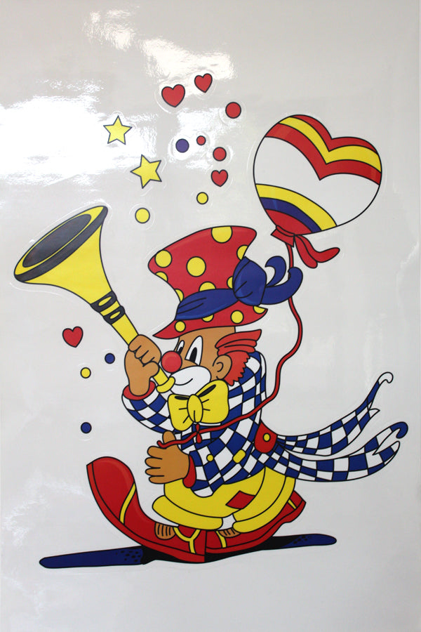 Maxi Fensterbild Clown, 67cm
