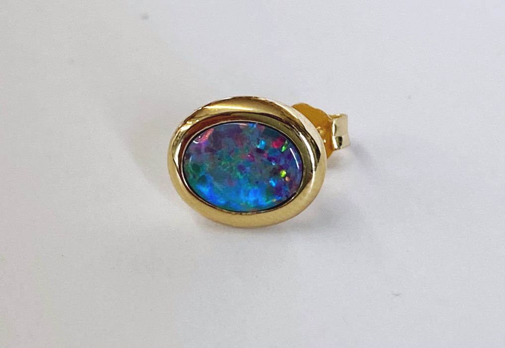 Boulder Opal 14K Stud Earrings