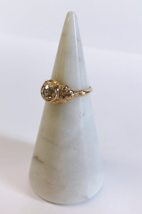 Antique Bezel Set Yellow Gold Ring