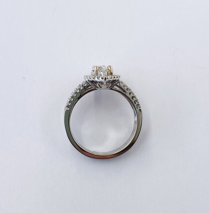 Marquise Halo Ring