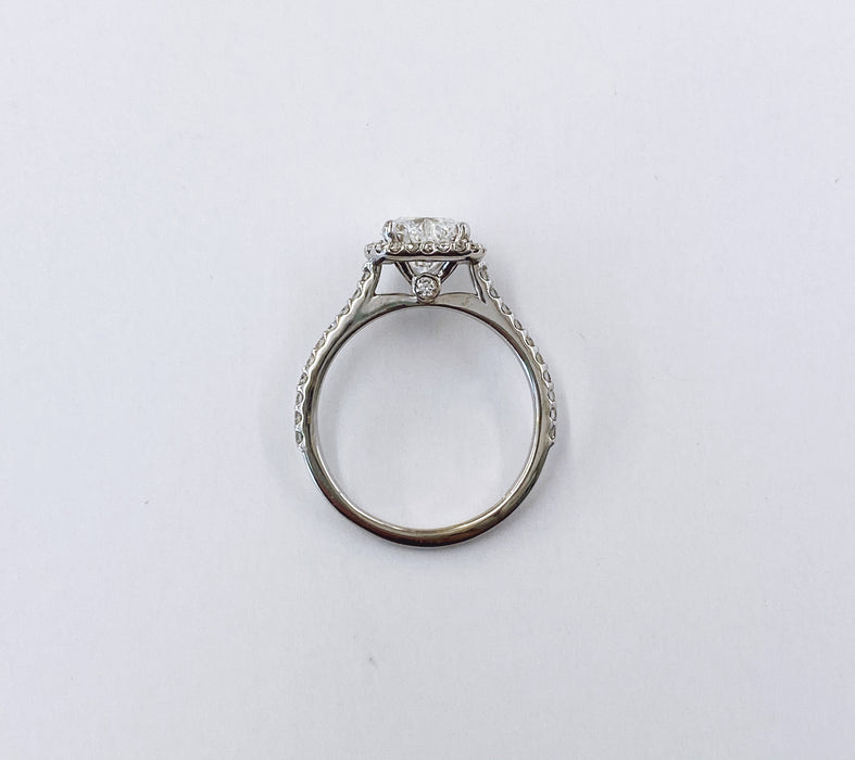 Heart Shape Diamond Halo Ring