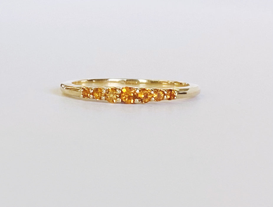 Citrine Birthstone Stack Band