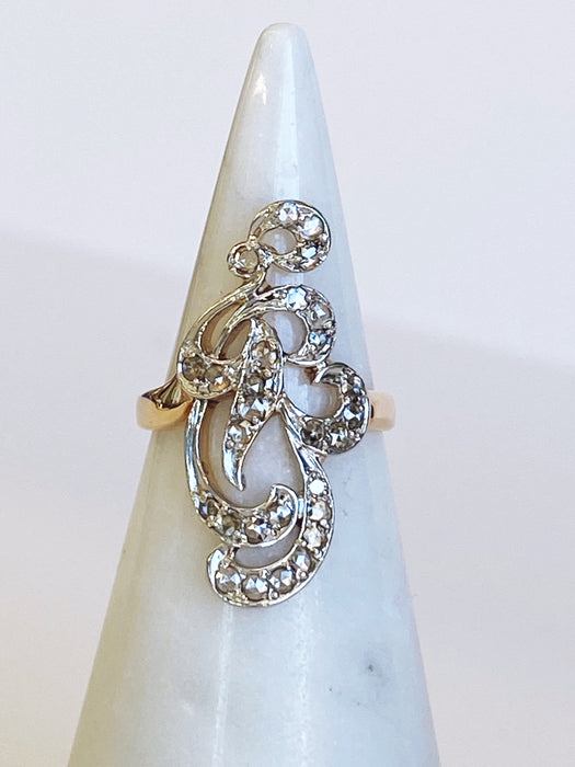 Rose cut Victorian Ring
