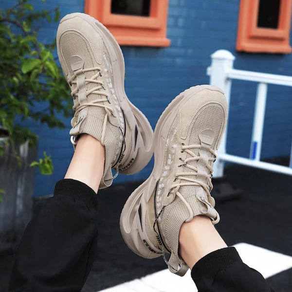 Beige Chunky Sneakers for Men - Trendo Chic