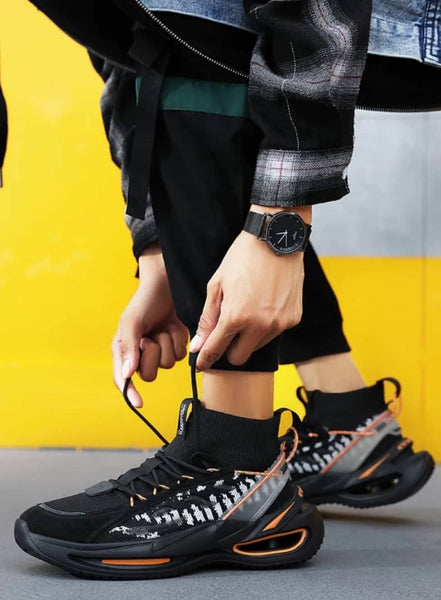 Black Chunky Sneakers for Men - Trendo Chic