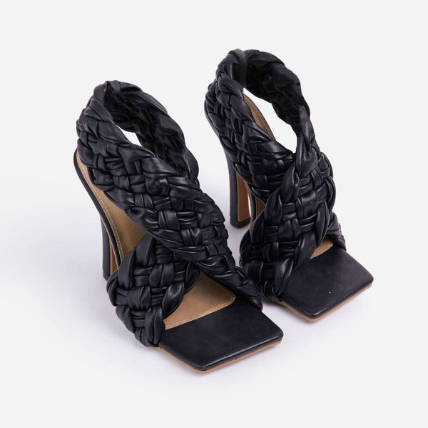 Black Quilted High Heels - Trendo Chic
