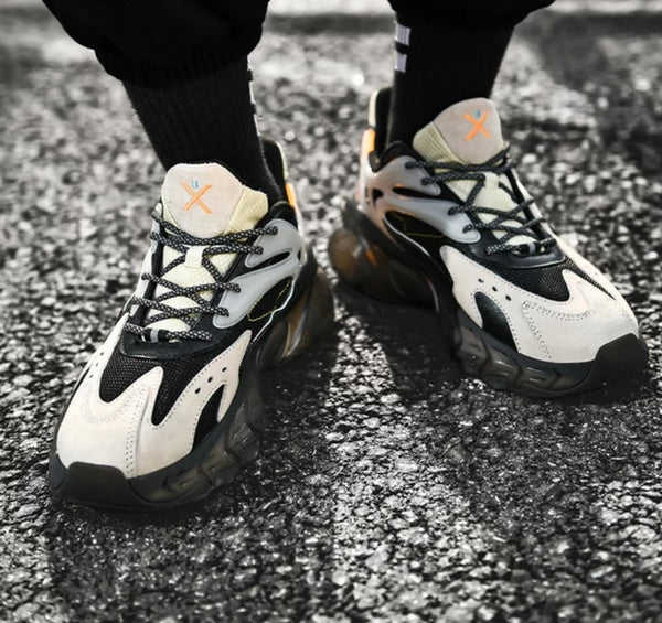 Black & Gray Chunky Sneakers - Trendo Chic