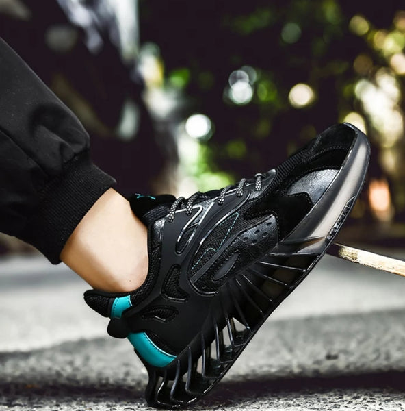 Black & Blue Chunky Sneakers - Trendo Chic