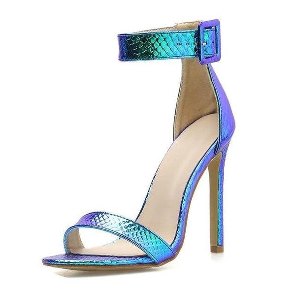 Blue Strappy High Heel Sandals - Trendo Chic