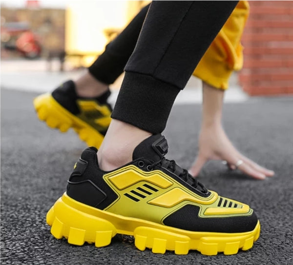 Yellow Chunky Sneakers - Trendo Chic