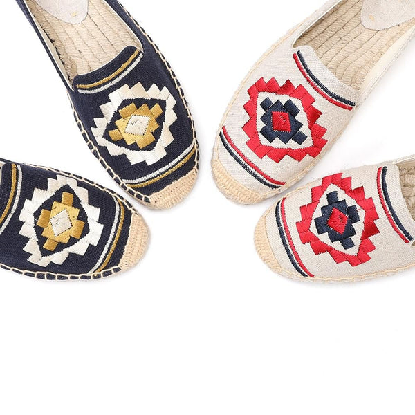 Embroidered Espadrilles - Trendo Chic