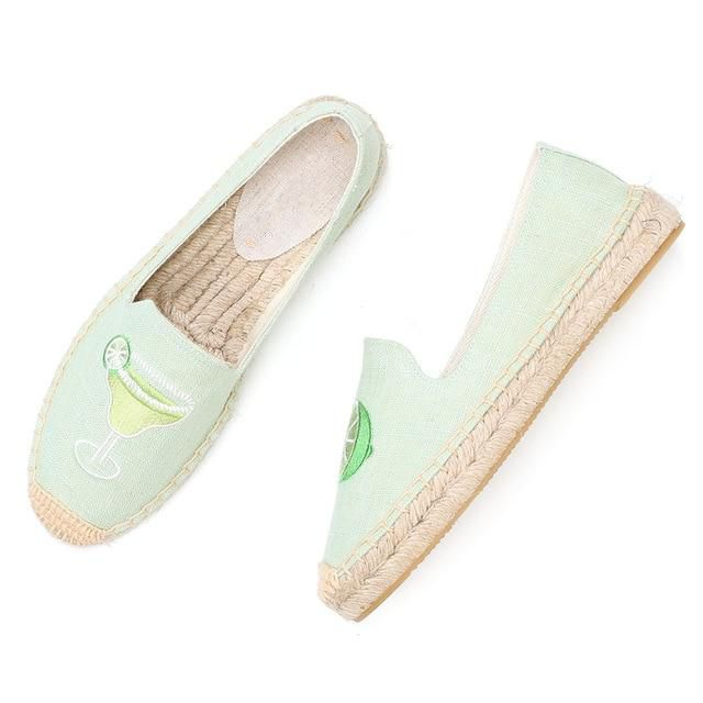 Light Green Flat Espadrilles - Trendo Chic