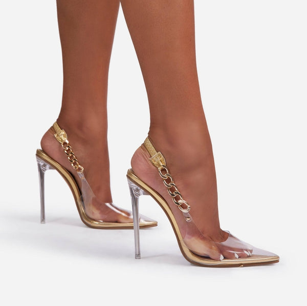 Gold High Heels Sandals - Trendo Chic