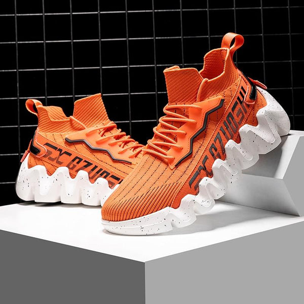 Orange Chunky Sneakers - Trendo Chic