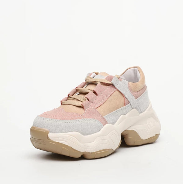 Pink Chunky Sneakers for Women - Trendo Chic