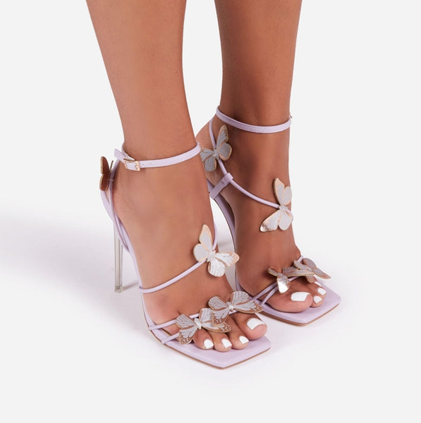 Purple Butterfly High Heel Sandals - Trendo Chic