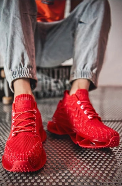 Red Chunky Unisex Sneakers - Trendo Chic