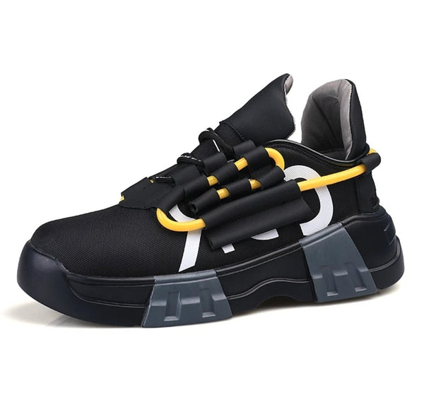 Black Retro Sneakers - Trendo Chic