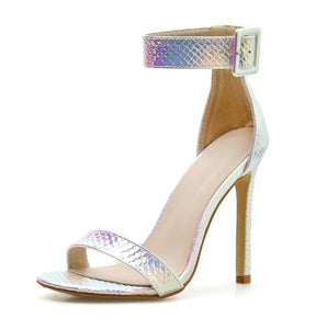 Silver Strappy High Heel Sandals - Trendo Chic