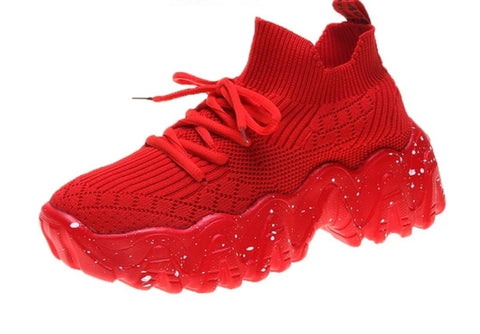 Red Sock-Style Sneakers for Women - Trendo Chic