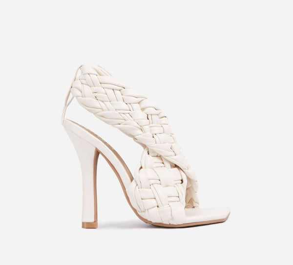 White Quilted High Heels - Trendo Chic