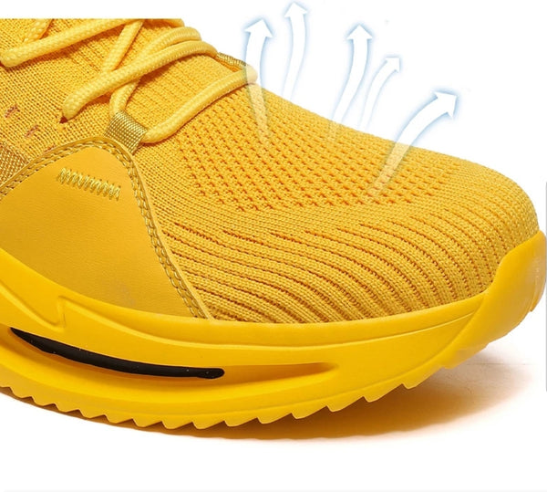 Yellow Low-Top Sneakers - Trendo Chic