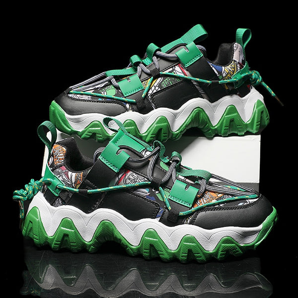 Green Chunky Sneakers - Trendo Chic