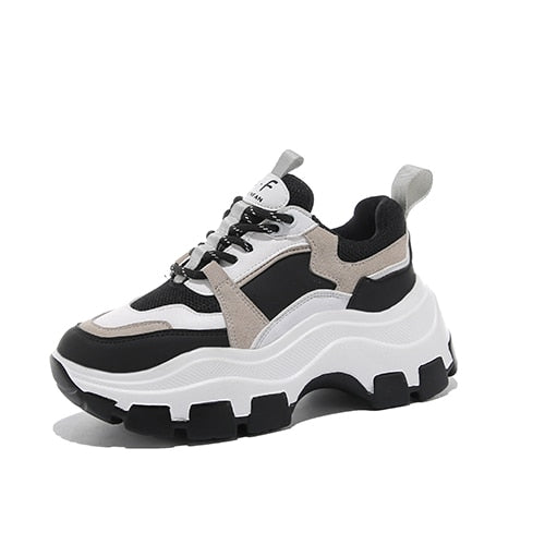 Black Chunky Sneakers for Women - Trendo Chic