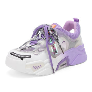 Purple Chunky Sneakers for Women - Trendo Chic