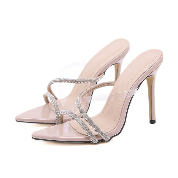 Beige Pointed Toe Sandals - Trendo Chic