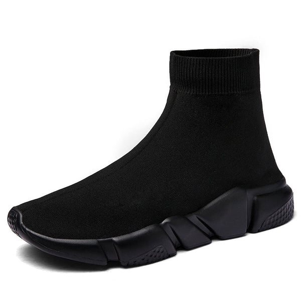 Black Sock-Style Sneakers - Trendo Chic