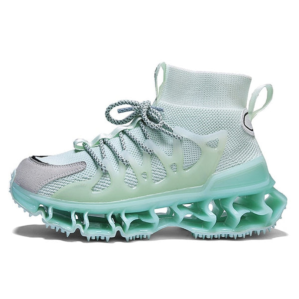Sea Salt Sock-Style High-Top Sneakers - Trendo Chic
