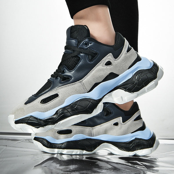 Blue Chunky Sneakers - Trendo Chic