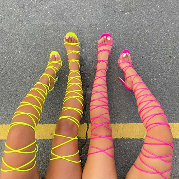 Lace-up Sandals- Trendo Chic