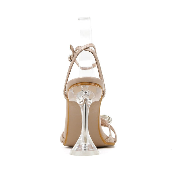Apricot Diamante Bowtie Sandals - Trendo Chic