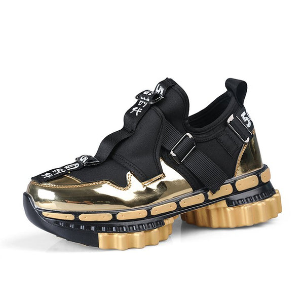 Gold Chunky Sneakers - Trendo Chic