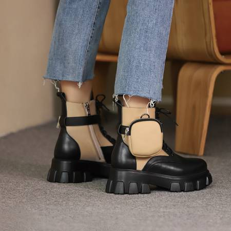 Track Sole Ankle Boots - Trendo Chic