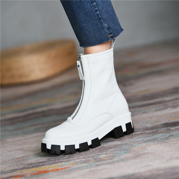White Ankle Boots - Trendo Chic