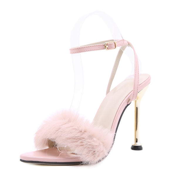 Pink Pointed Toe Sandals - Trendo Chic