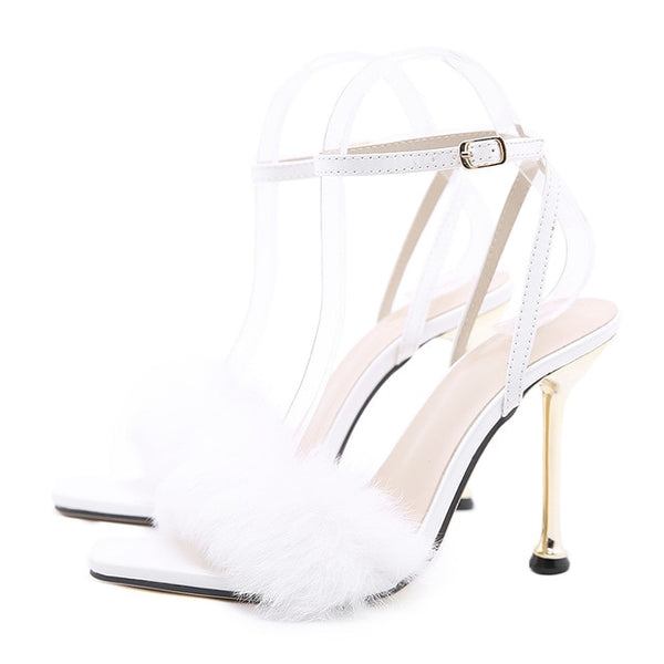 White Pointed Toe Sandals - Trendo Chic