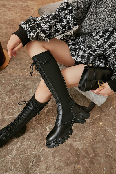 Black Knee-High Boots - Trendo Chic