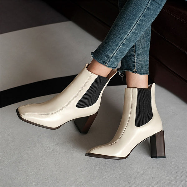 Beige Ankle Boots - Trendo chic