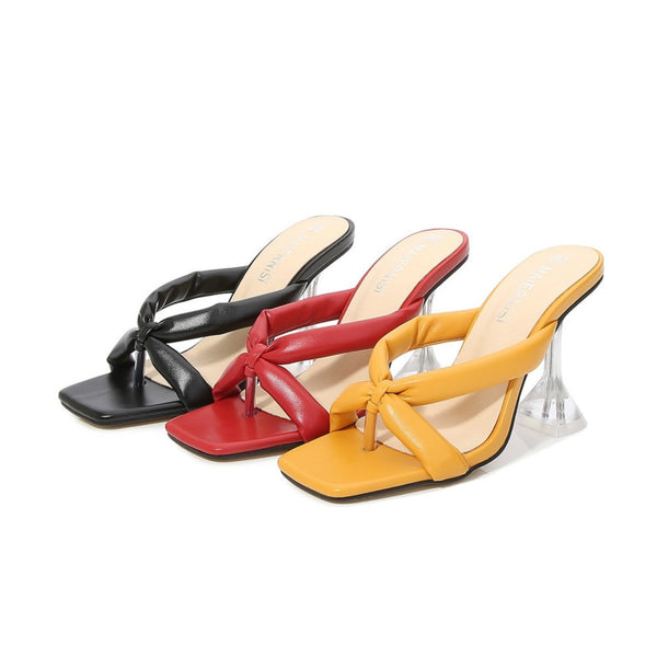 Cross Strap Pyramid heel Sandals - Trendo Chic