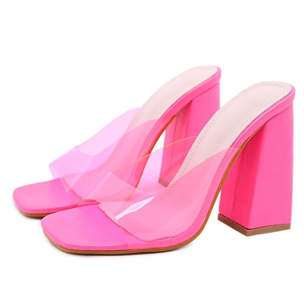 Rose Block Heels Sandals - Trendo Chic